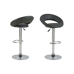 Černá barová židle Actona Plump