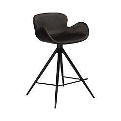 Černá barová židle DAN–FORM Denmark Gaia Velvet, výška 87 cm