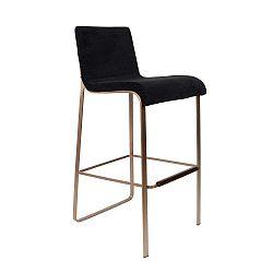 Černá barová židle Dutchbone Fiore, výška 100 cm