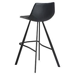 Černá barová židle s černým kovovým podnožím DAN–FORM Pitch