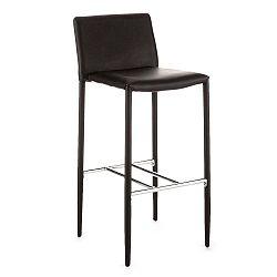 Černá barová židle s potahem z ekologické kůže Tomasucci Lion