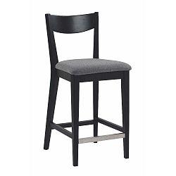 Černá barová židle s šedým podsedákem Folke Dylan