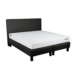 Černá boxspring postel Revor Domino, 200 x 140 cm
