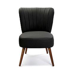 Černá čalouněná židle z umělé kůže Versa Kioto