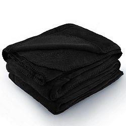 Černá deka z mikrovlákna AmeliaHome Tyler, 220 x 240 cm