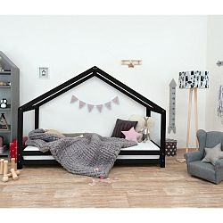 Černá dětská postel z lakovaného smrkového dřeva Benlemi Sidy, 70 x 160 cm