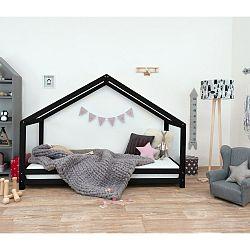 Černá dětská postel z lakovaného smrkového dřeva Benlemi Sidy, 90 x 180 cm