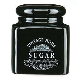 Černá dóza na cukr Premier Housewares Vintage Home