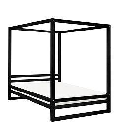 Černá dřevěná dvoulůžková postel Benlemi Baldee, 200x190cm