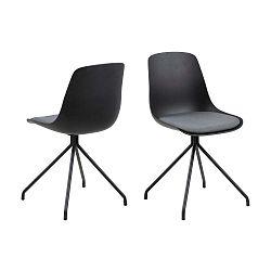 Černá jídelní židle Actona Eva