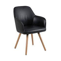 Černá jídelní židle Actona Luna