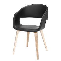 Černá jídelní židle Interstil Nova Nature Poplar