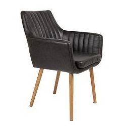 Černá jídelní židle Pike