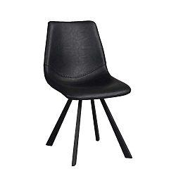 Černá jídelní židle s černými nohami Folke Alpha