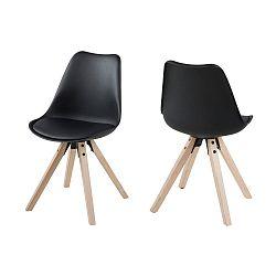 Černá jídelní židle s hnědýma nohama Actona Dima