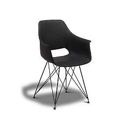 Černá jídelní židle s nohami z bukového dřeva Furnhouse Elvis