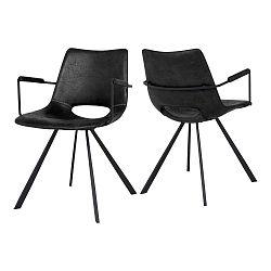Černá jídelní židle s područkami Canett Coronas