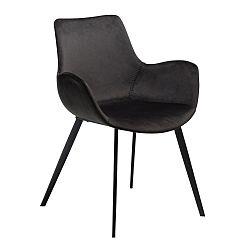 Černá jídelní židle s područkami DAN-FORM Denmark Hype