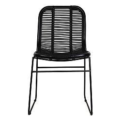 Černá jídelní židle z ratanu HSM collection