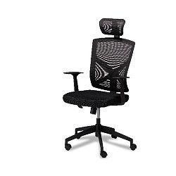 Černá kancelářská židle Furnhouse Nova
