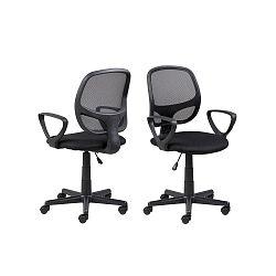 Černá kancelářská židle na kolečkách Actona Major