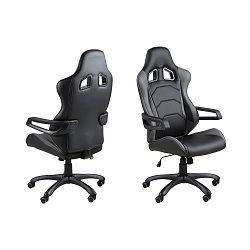 Černá kancelářská židle na kolečkách Actona Thorium