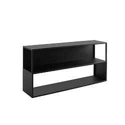 Černá knihovna Custom Form Hyller Side, výška75cm