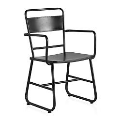 Černá kovová pracovní židle Geese Gerome