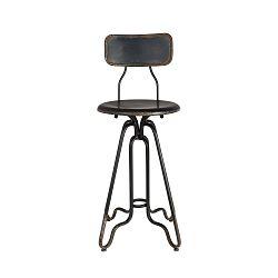 Černá kovová vysoká židle Dutchbone Ovid, výška 88 cm