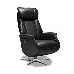 Černá kožená židle Furnhouse Donanza
