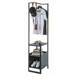 Černá odkládací police Dark Metal Bookcase Without Door