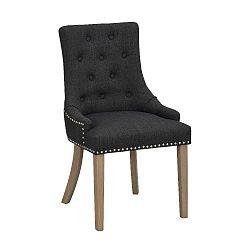 Černá polstrovaná jídelní židle s hnědými nohami Folke Vicky
