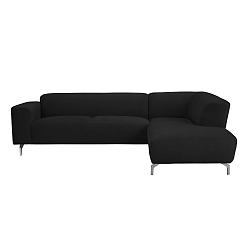 Černá rohová pohovka Windsor & Co Sofas Orion, pravý roh