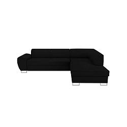 Černá rohová rozkládací pohovka s úložným prostorem Kooko Home XL Right Corner Sofa