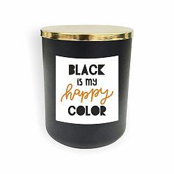 Černá svíčka North Carolina Scandinavian Home Decors Motto Glass Candle V11
