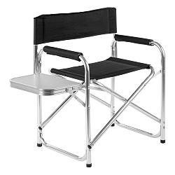 Černá zahradní skládací židle s poličkou Premier Housewares Hanna