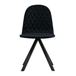 Černá židle s černými nohami Iker Mannequin Triangle