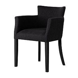 Černá židle s černými nohami Ted Lapidus Maison Santal