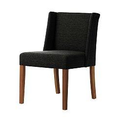Černá židle s tmavě hnědými nohami Ted Lapidus Maison Zeste