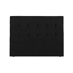 Černé čelo postele Kooko Home Basso, 120 x 200 cm