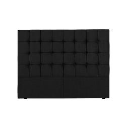 Černé čelo postele Kooko Home Hasso, 120 x 180 cm