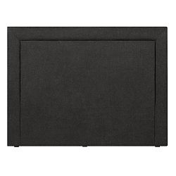 Černé čelo postele Mazzini Sofas Ancona, 200 x 120 cm