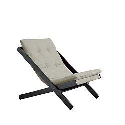 Černé skládací křeslo z bukového dřeva Karup Design Woogie Black, 60 x 115 cm