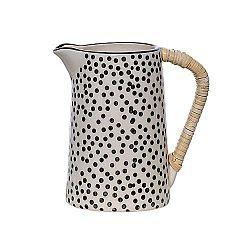 Černo-bílý keramický džbán Bloomingville Julie