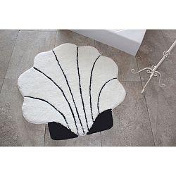Černo-bílý koberec ve tvaru mušle Alessia, Ø 90 cm