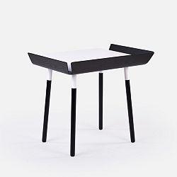 Černo-bílý psací stůl s 1 šuplíkem EMKO My Writing