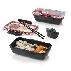 Černo-červený svačinový box Black Blum Bento