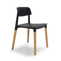 Černo-hnědá jídelní židle Evergreen House Simple