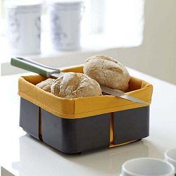 Černo-oranžový košík na chleba Steel Function Roma