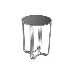 Černo-šedý odkládací stůl Versa Aux, ⌀ 42 cm